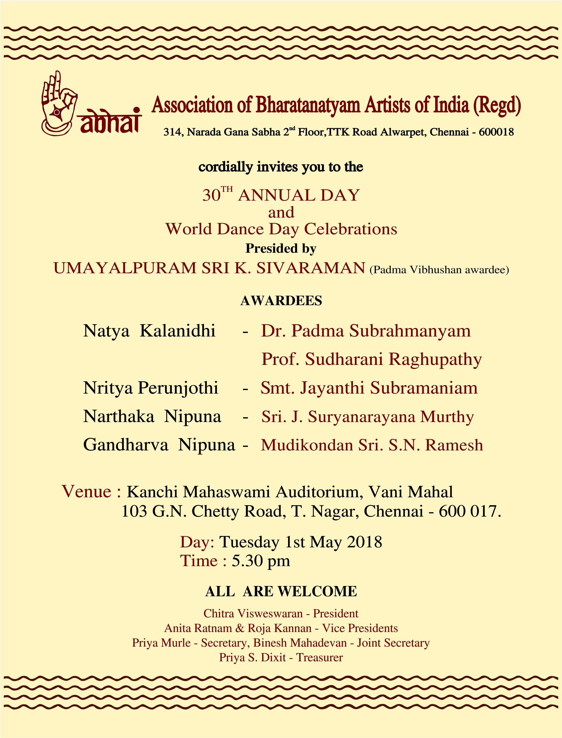 Abhai 30th Annual day celebrations
