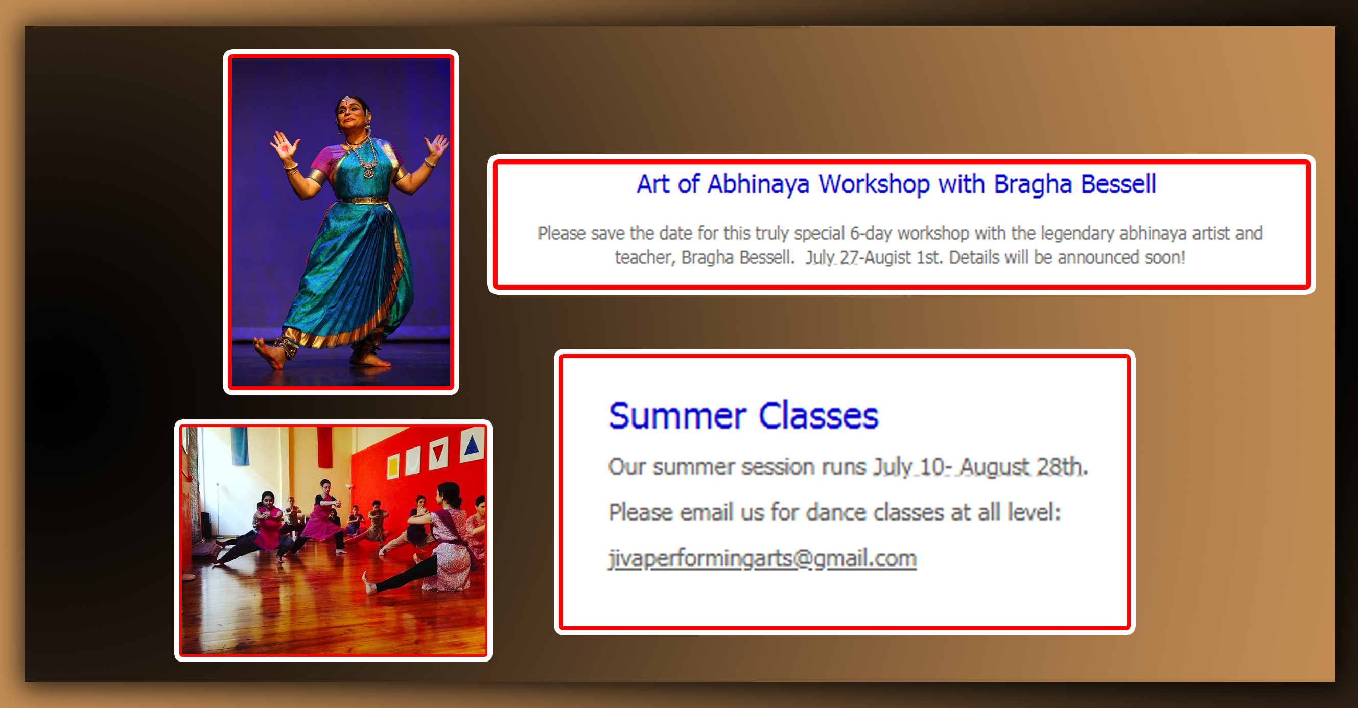 Art of Abhinaya Workshop With Bragha Bessell