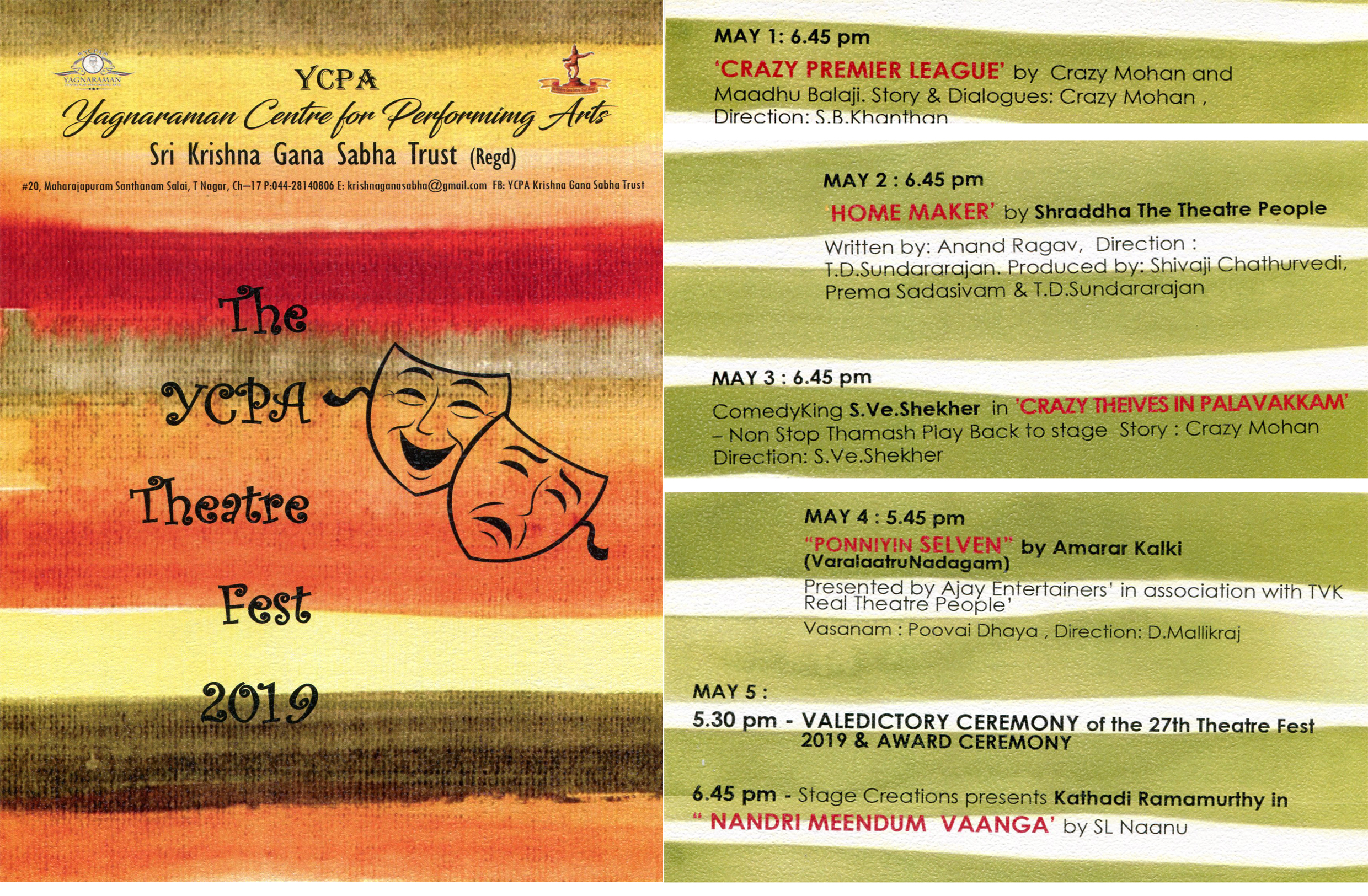 The YCPA Theate Fest 2019