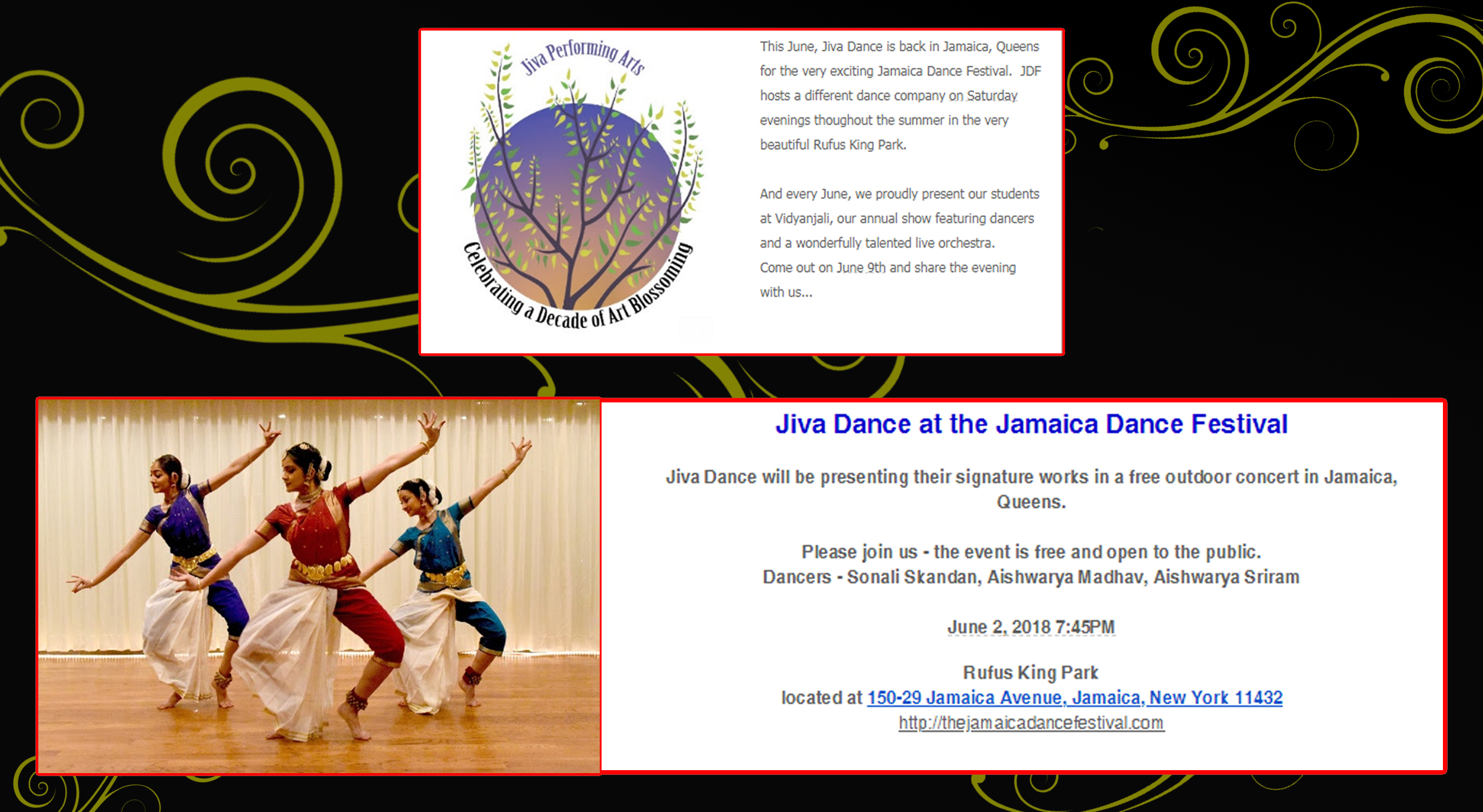 Jiva Dance at the Jamaica Dance Festival