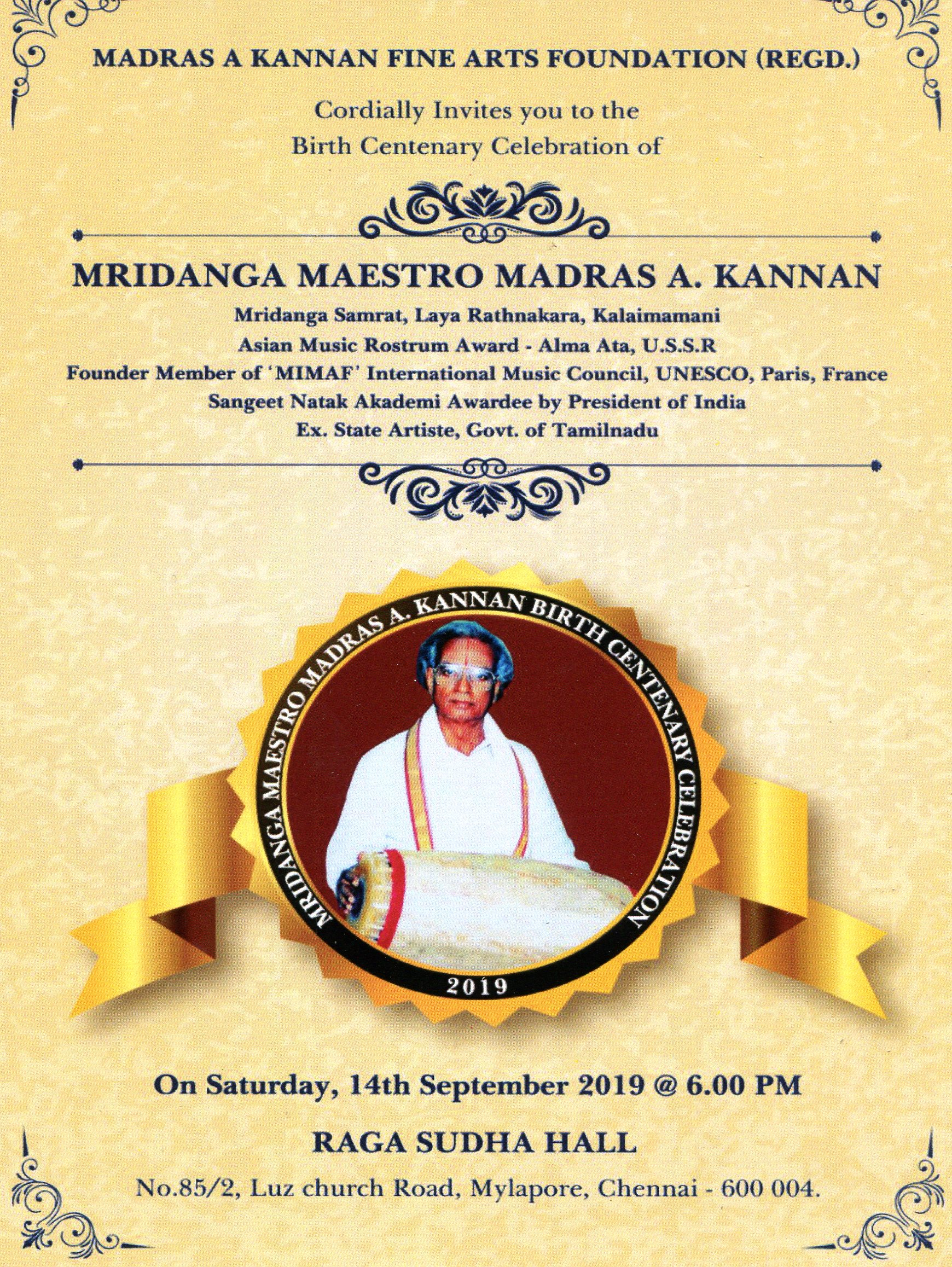 Madras a Kannan Fine Arts Foundation