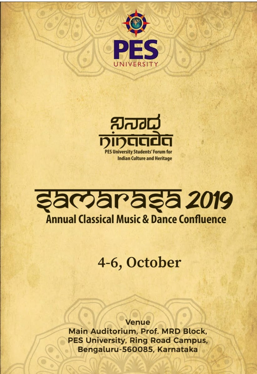 SAMARASA '19, the Annual Classical Music and Dance Confluence