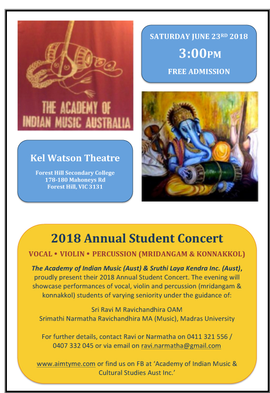 ANNUAL STUDENT CONCERT OF THE ACADEMY & SLK