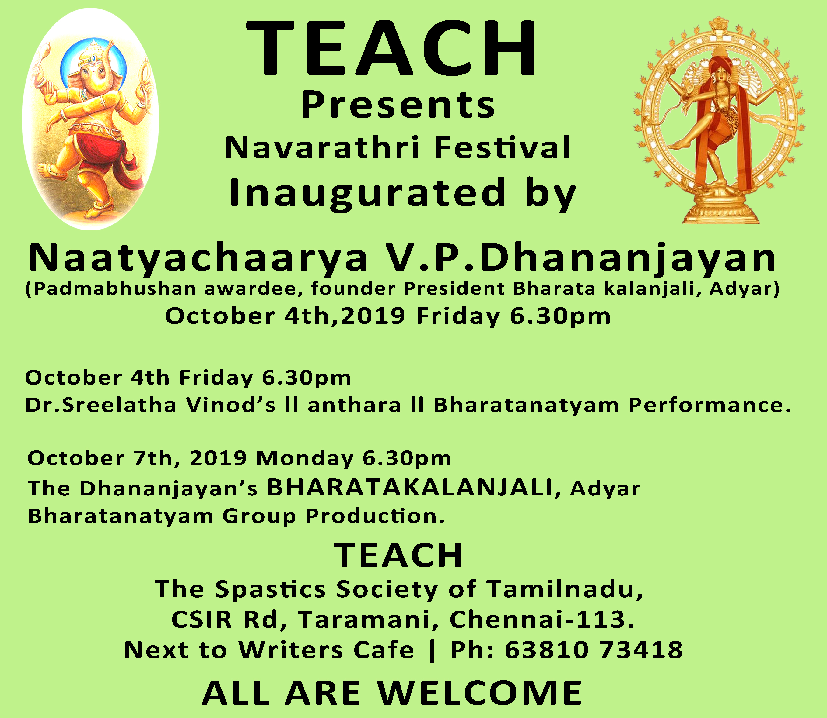 TEACH presents NAVARATHRI Festival