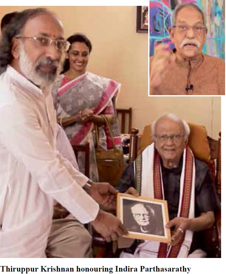 Prof. Indira Parthasarathy honoured