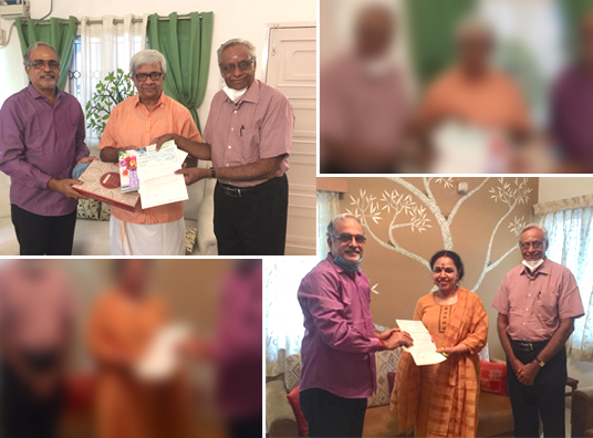 Hamsadhwani donates for artistes/stage technicians benefit fund